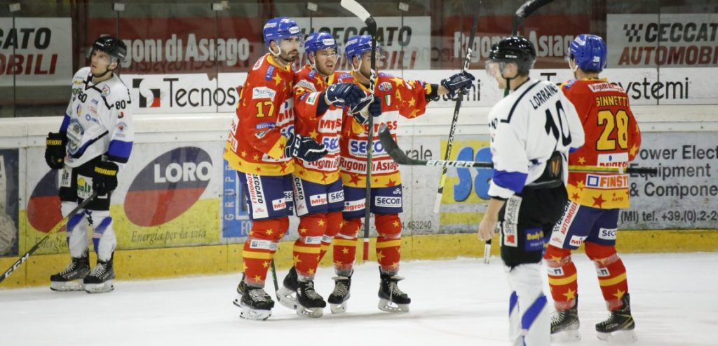IHL – Serie A, l'Asiago consolida il primato. Il Renon ritorna nella zona playoff